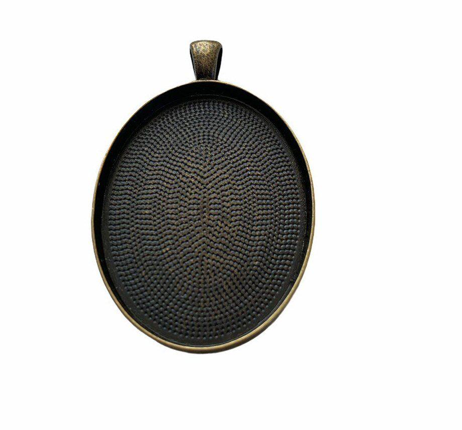 bronze oval plain bezel