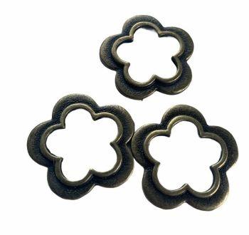 bronze small flower frames - C4