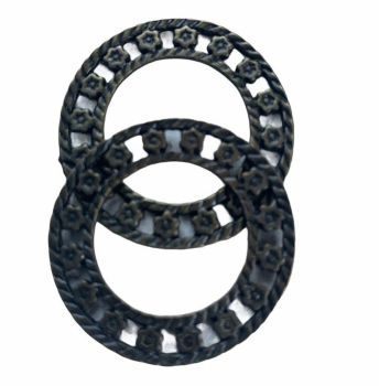 bronze patterned rings- C3
