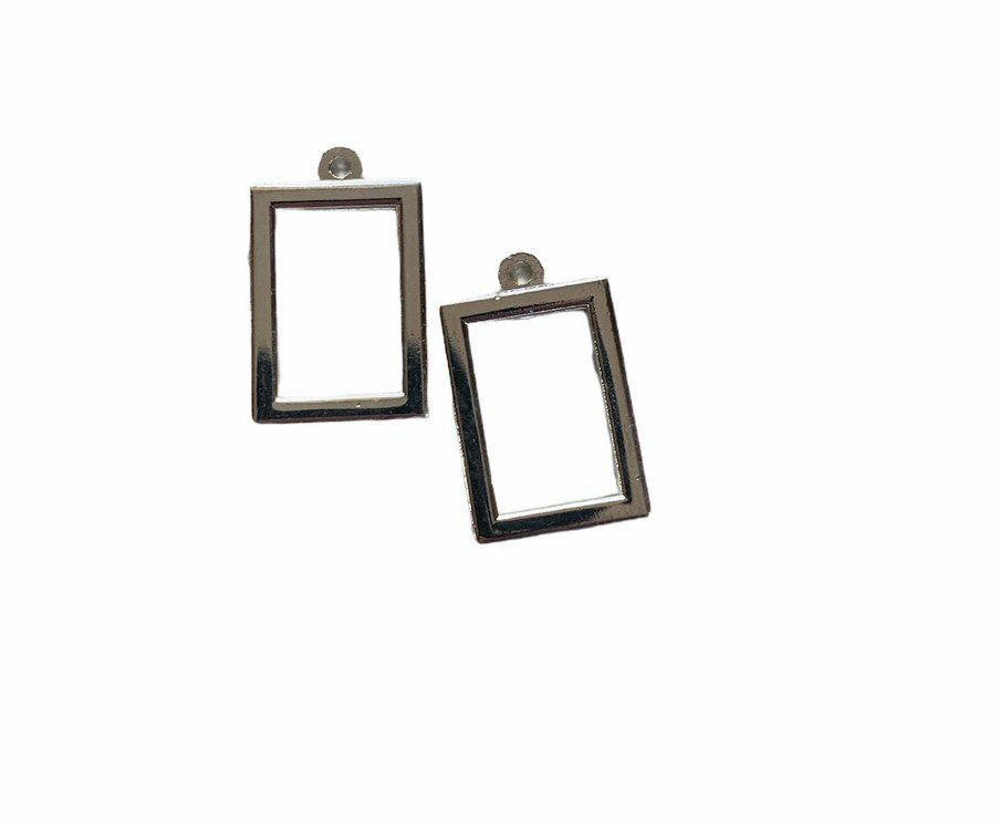 silver style small rectangular frames