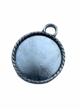 rope silver style round bezel tray F3