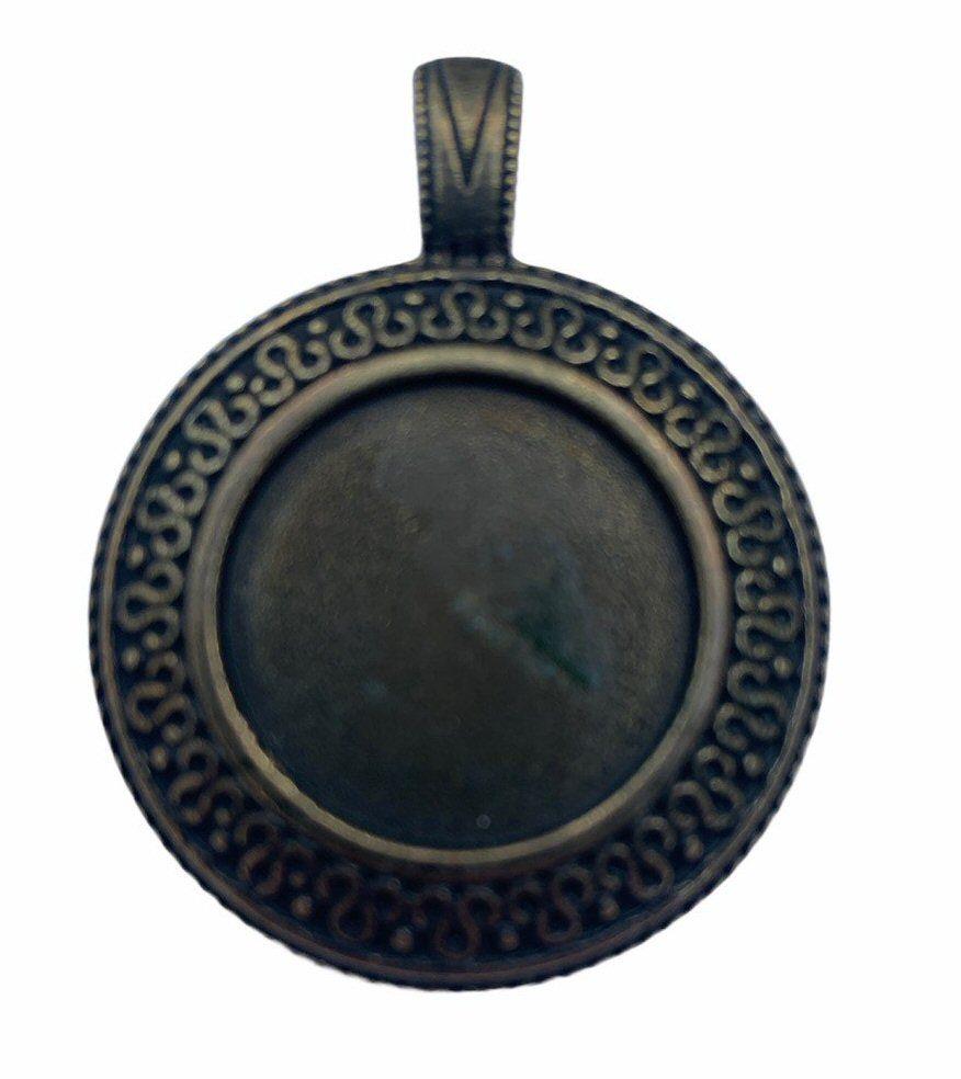 patterned bronze style bezel tray