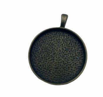 bronze style round bezel tray - F3