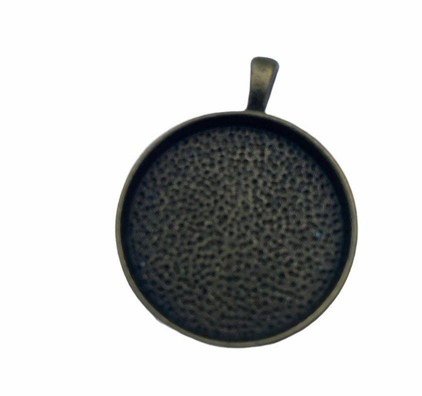 bronze style round bezel tray