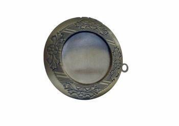 Bronze style classic circular locket - A10