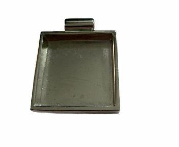 silver style heavy square bezel tray-F2