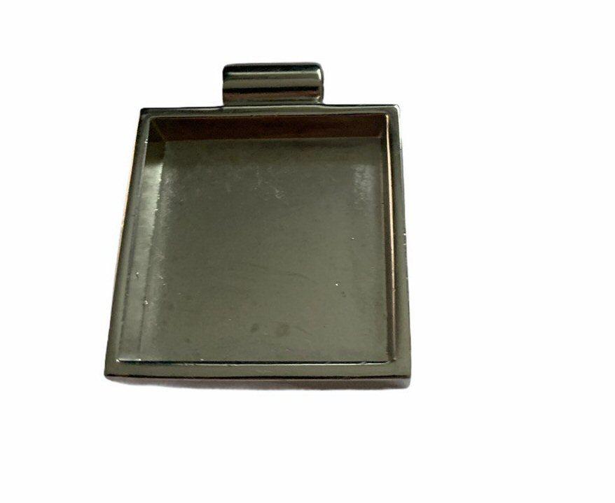 silver style heavy square bezel tray