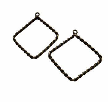 copper style diamond rope frames - F5