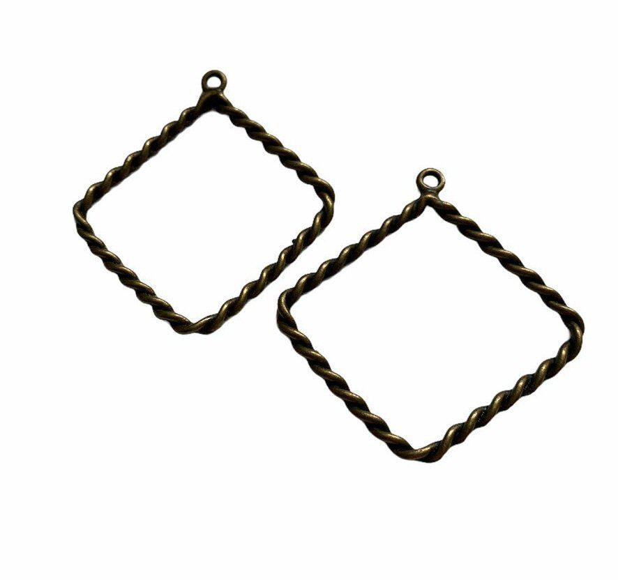 copper style diamond rope frames