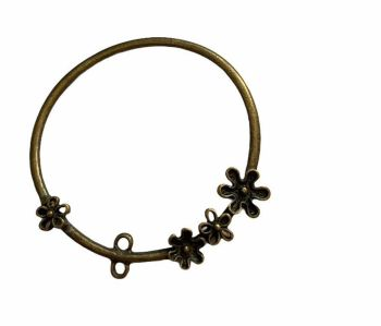 bronze style ring with flower decoration C7