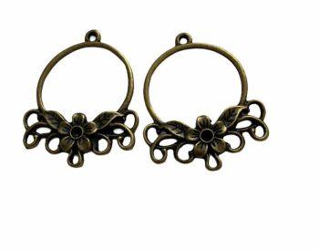 Bronze style ornate ring frames - C6