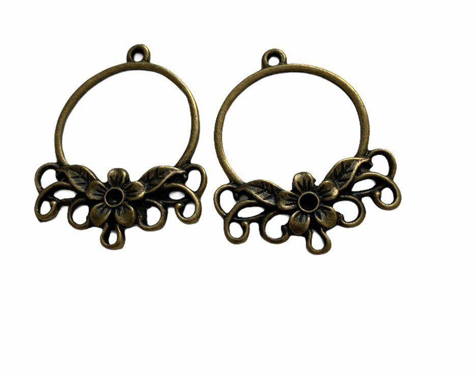 Bronze style ornate ring frames
