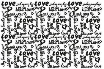 Love you  silk screen - S39
