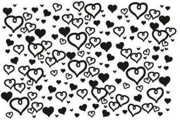 Hearts silk screen -S40