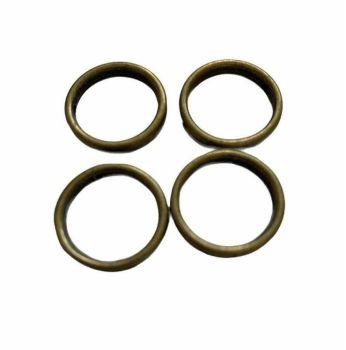 bronze style  joiner rings - E11