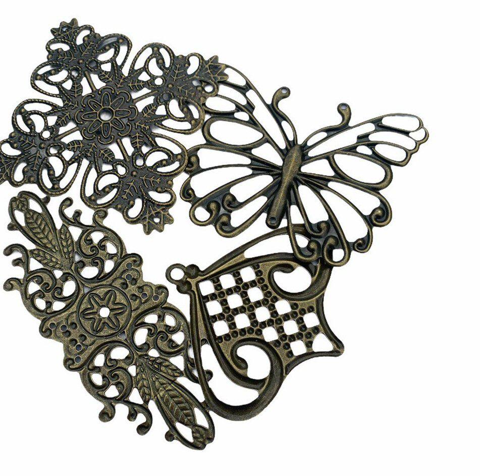 Bronze style filigreen designs - F7