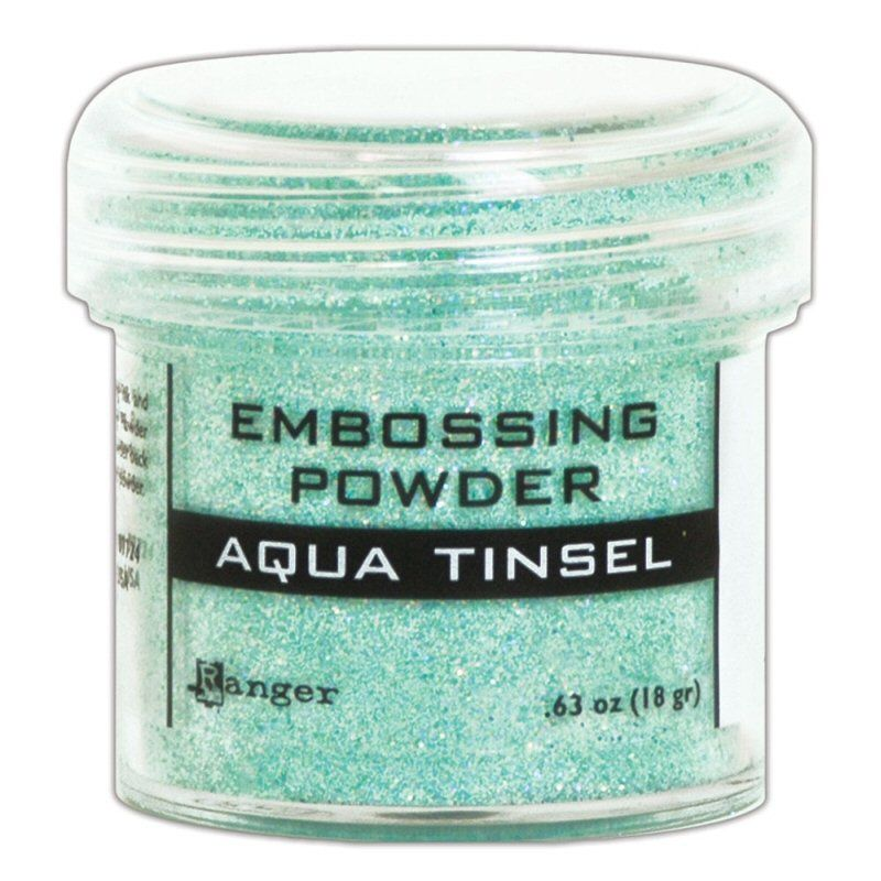 Ranger Embossing Powder Aqua Tinsel