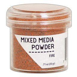 Ranger embossing mixed media powder Fire