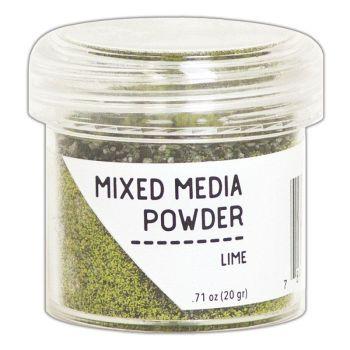 Ranger embossing mixed media powder Lime