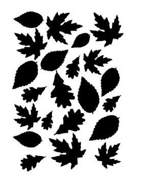 Autumn Leaves stencil