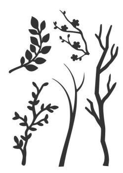 Branches stencil