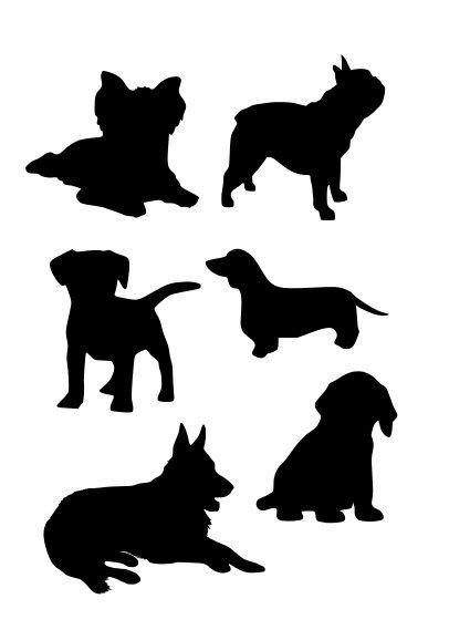 Dogs stencil