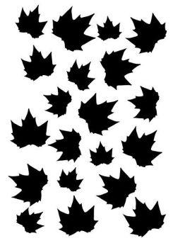 Maple leaves stencil