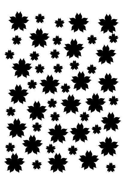 Petals stencil