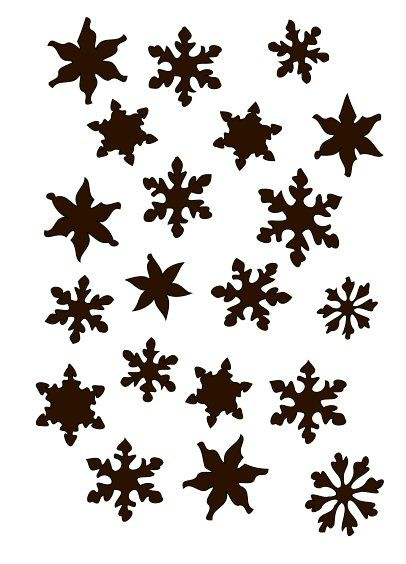 Scattered snow stencil