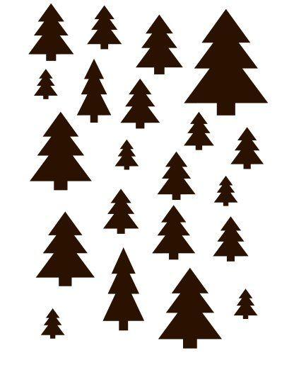 xmas trees stencil