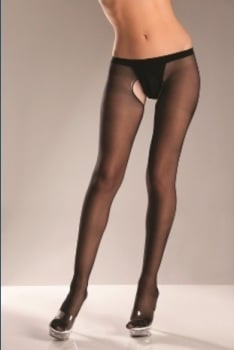 0794b5cb0f1 Sheer Nylon Crotchless Tights by Be Wicked!