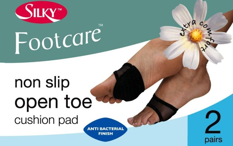 Open Toe Non Slip Cushion Pads 2 Pair Pack