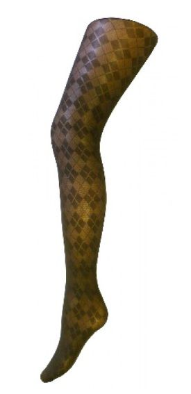45bfb32a19d95 Black Opaque Patterned Argyle Tights