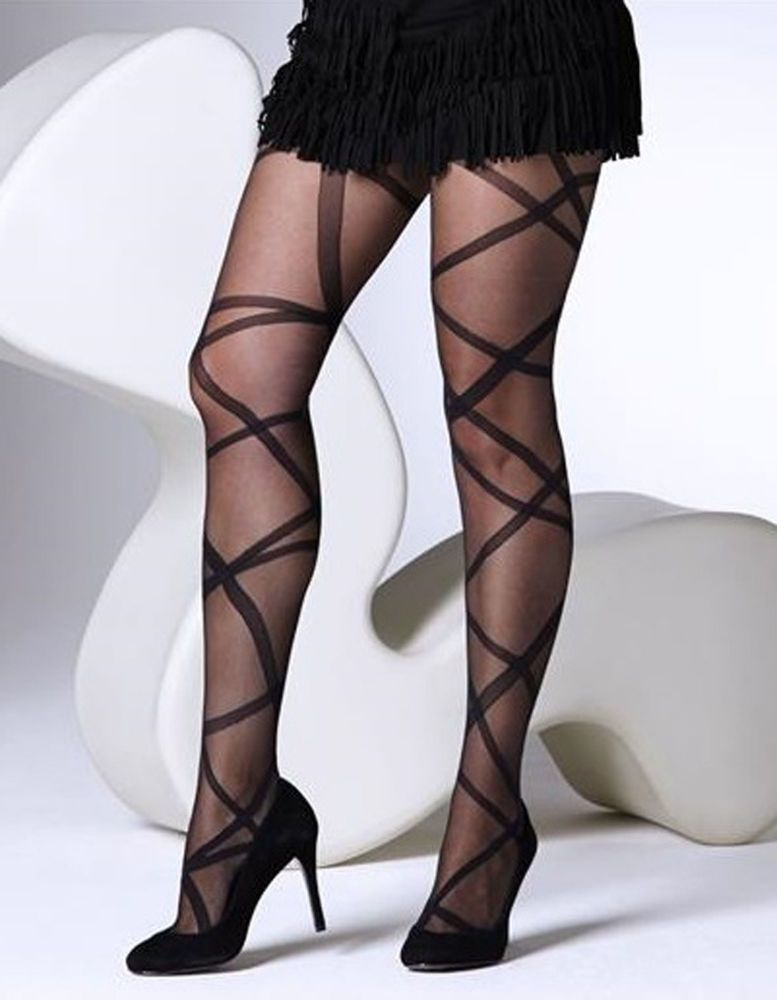 48406addcbc65 GIPSY RIBBON WRAP TIGHTS IN BLACK ONE SIZE CODE 1621