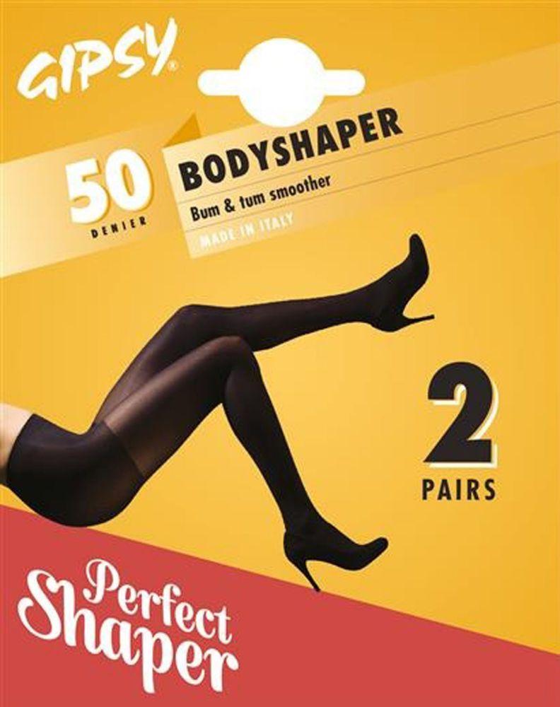 354f1d5f9 Gipsy 50 denier Bodyshaper Tights in Black 2 pair pack