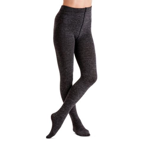 befa7f34b1c8e Couture 200 denier Melange Fleece tights in Grey