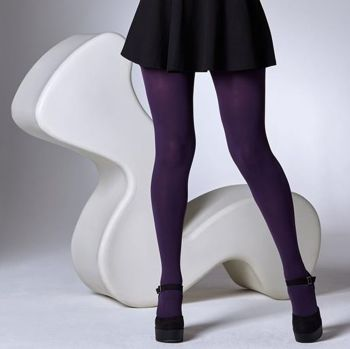 c8e64b4fd Gipsy 100 Denier Opaque Tights in Damson