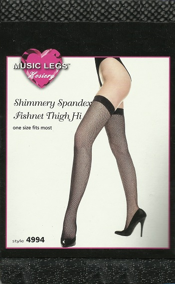 0764eb2c709 Music Legs Thigh Highs in Black and Silver