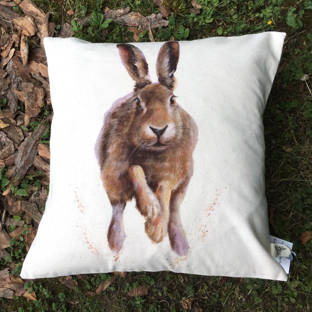 New Product Running Hare Cushion