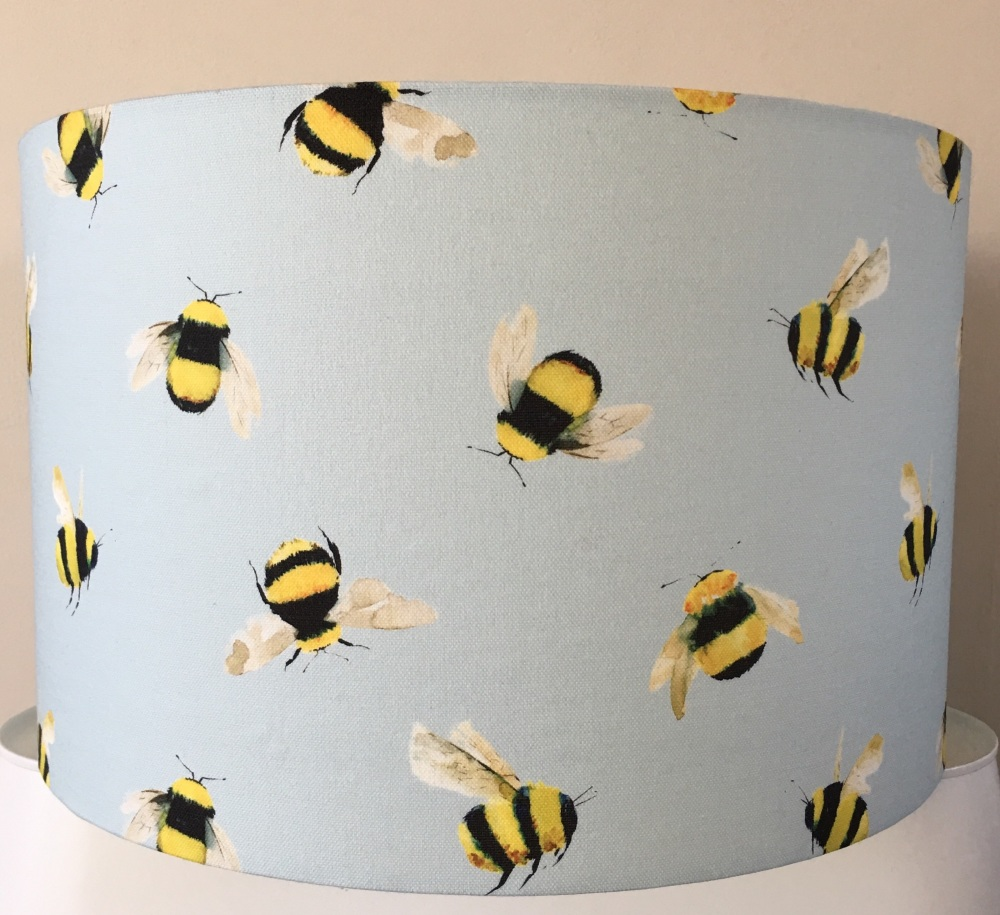New Product Lampshade-Duck Egg Blue Bumblebee