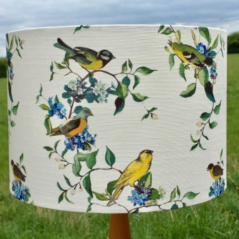 Lampshade- Little Birds and Forget -me-Nots