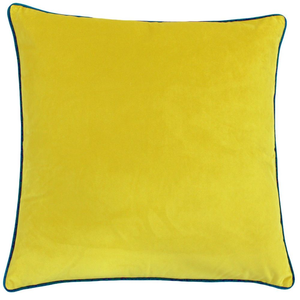 Velvet Cushion - Ochre and Duck Egg