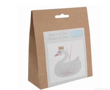 Felt Hanger Sewing Kit - Swan