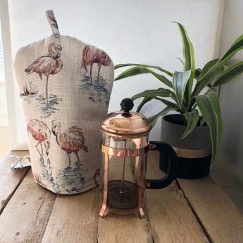 Cafetiere Cosy - Linen Flamingo