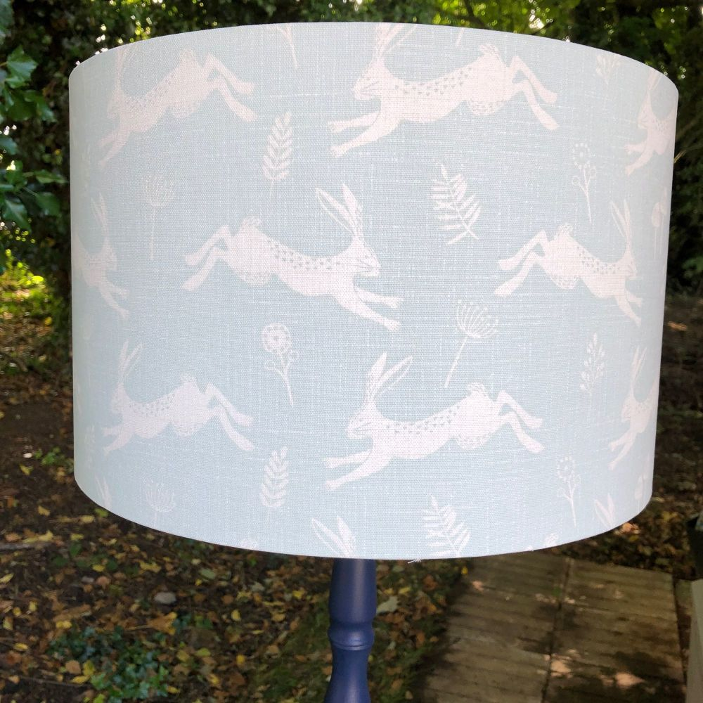 Lampshade- Duck Egg Hares