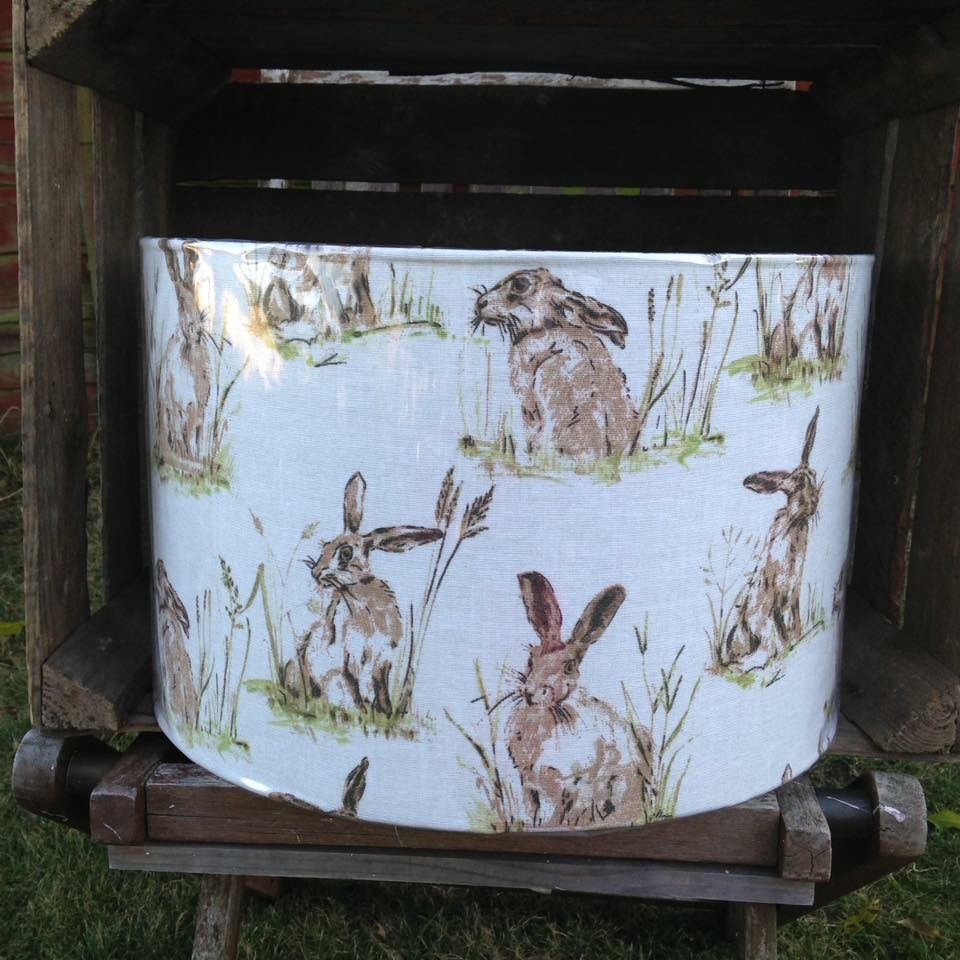 Lampshade- Brown Hares
