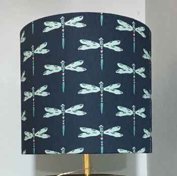 Lampshade- Navy Dragonfly