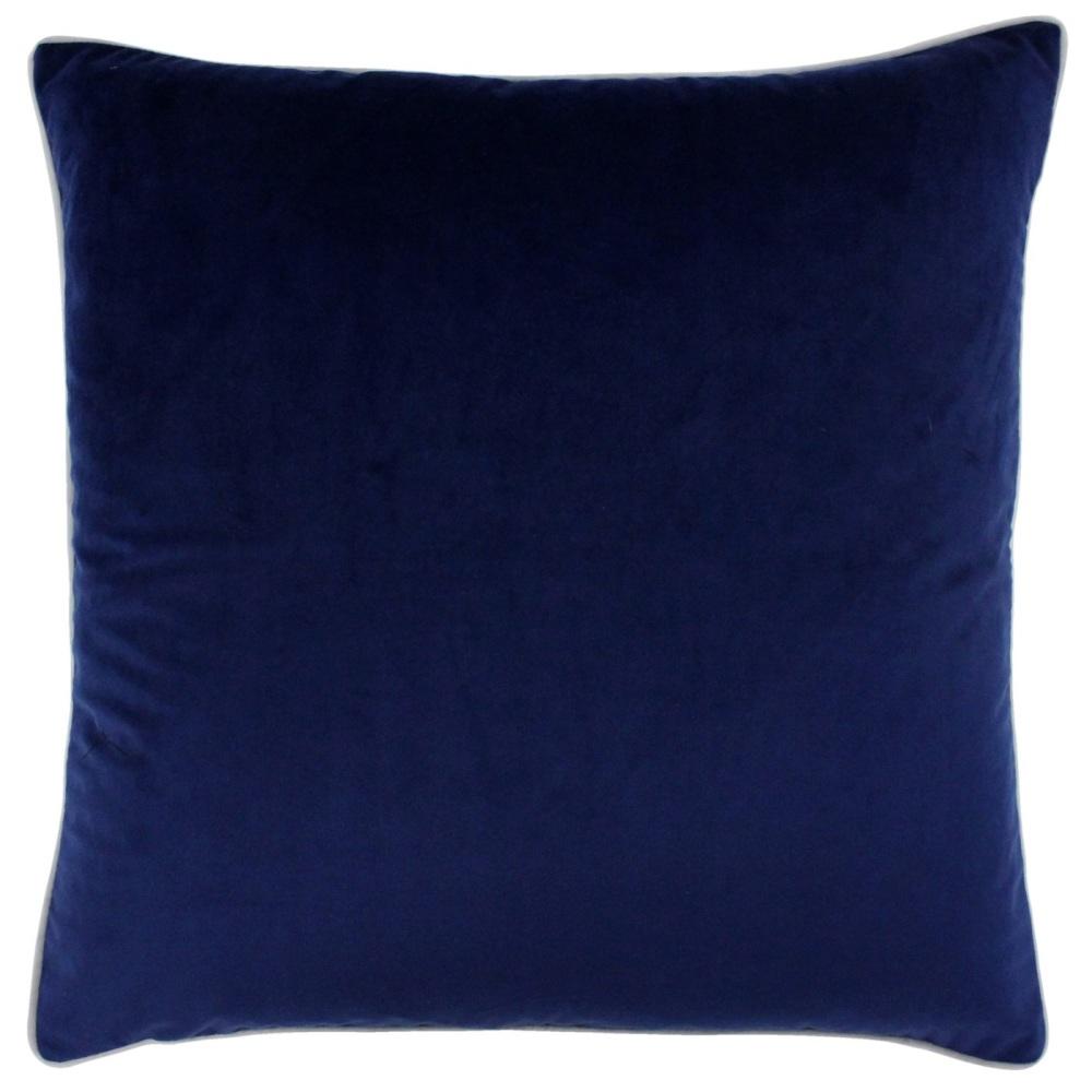 Velvet Cushion - Navy and Silver