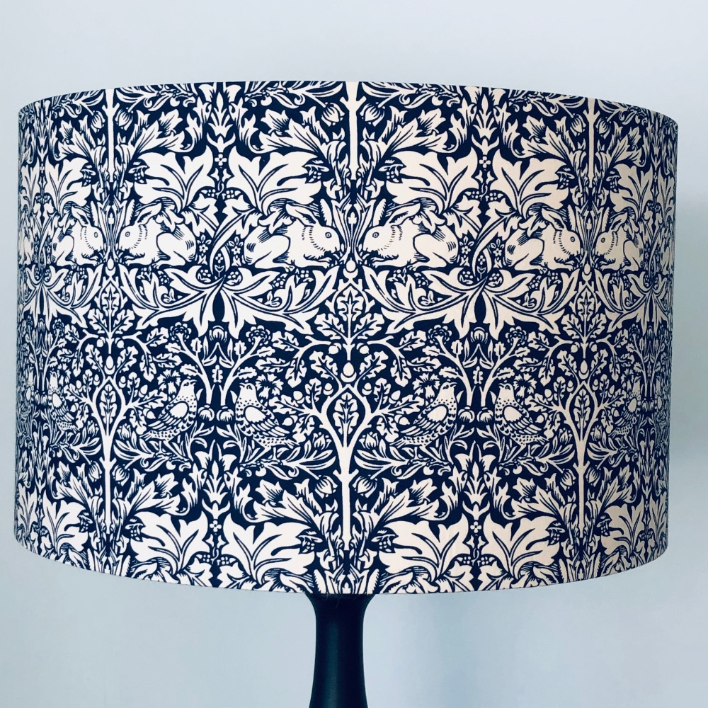 Lampshade - William Morris Brother Rabbit Navy