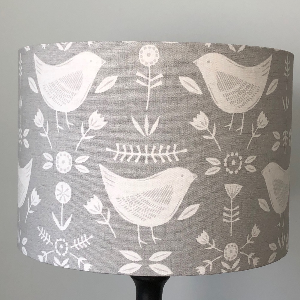 Lampshade - Narvik Grey Birds